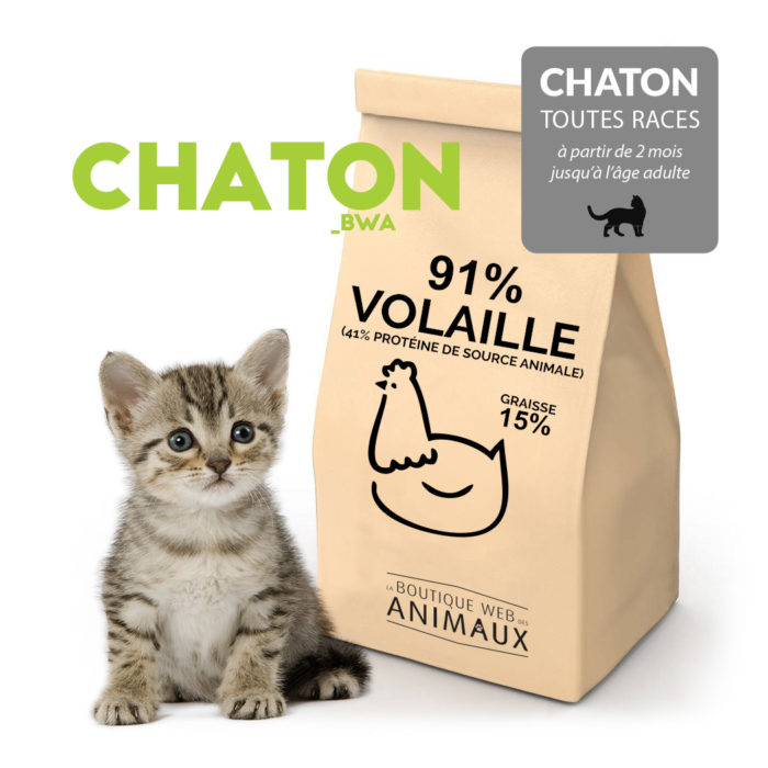 Croquettes CHATON_BWA à la volaille (91%)